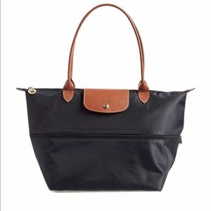Longchamp expandable and foldable Tote